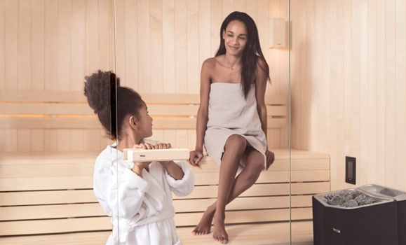 Woman-and-child-sauna
